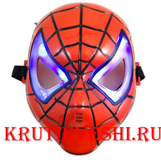 Маска Человек-паук светящаяся купить