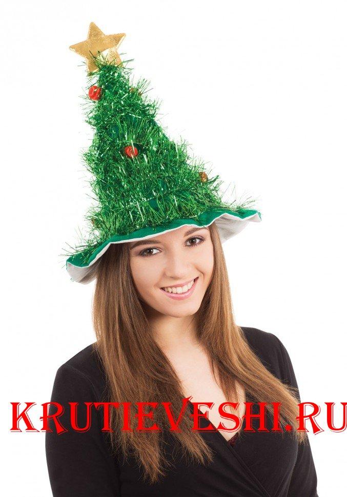 Как сделать новогоднюю шапку на фото