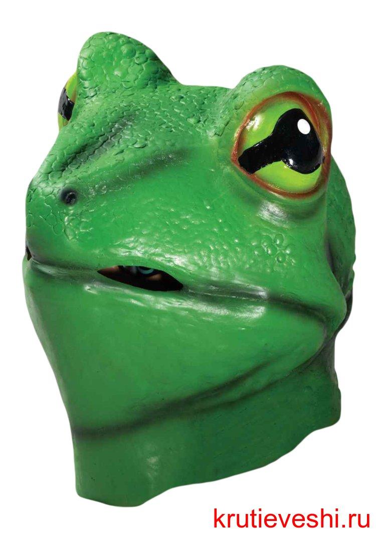 Как сделать своими руками маску лягушки на голову